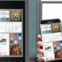 Samsung Family Hub geschlossen mit Bedienungsbeispiel klein